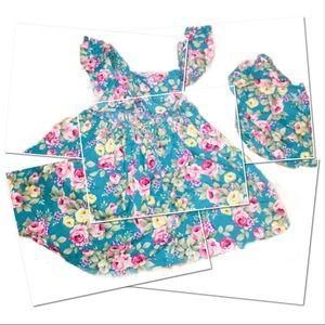 ‼️❤️GORGEOUS TEAL Floral Print Dress Set!❤️‼️